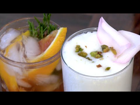 Video Spring Cocktails: A Vermouth Cobbler and a Rose Pistachio Fizz | Potluck Video