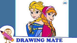 Frozen Coloring Pages For Kids Colouring Book ♥ Kraina Lodu kolorowanki malowanki dla dzieci