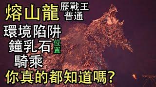【MHW】你真的瞭解熔山龍?鐘乳石/騎乘/小技巧/普通和歷戰王的差異,統統告訴你!
