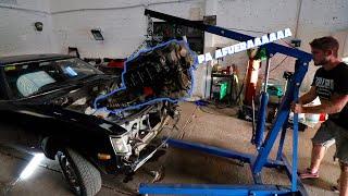 Sacamos el motor del Celica!!!!