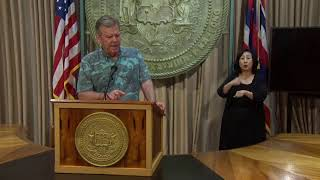 Governor Ige and COVID-19 team provide Hawaii's update