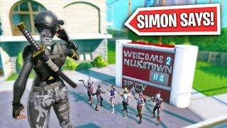 SIMON SAYS ON NUKETOWN! | Fortnite Battle Royale