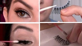 False Eyelashes 101: Select, Apply, Remove, Clean - Video Youtube