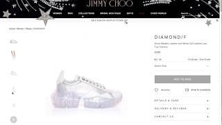 ea7ee7c47049e Jimmy Choo Diamond Sneaker 360 Photography