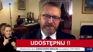 Grzegorz BRAUN na antenie TVP INFO!!!
