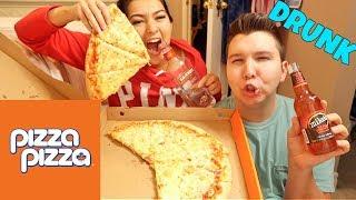 SUPER DRUNK REAL ASS MUKBANG! | Super Cheesy Pizza *Eating Show*