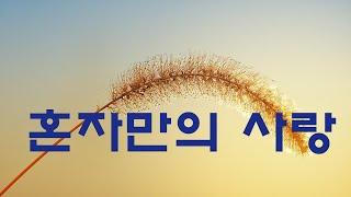 가요, 김태영 - 혼자만의 사랑,  반복듣기,  7080, 8090, 국내가요, 한국가요, KPOP