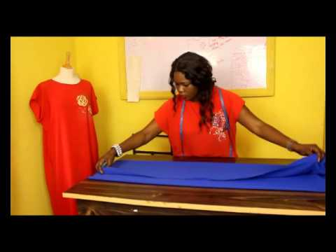 HOW TO CUT A SIMPLE KIMONO KAFTAN