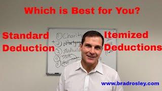 Standard Deduction vs. Itemizing in 2020