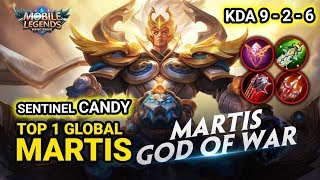 NEW SKIN MARTIS GOD OF WAR ! Top 1 Global Martis Sentinel CANDY Martis  Gameplay