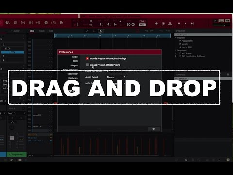 Audio/Midi drag and drop MPC 2.0 software
