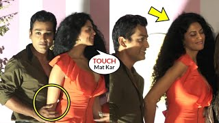 Kavita Kaushik UNCOMF0RTABLE Hubby TOUCHING Wrongly In Front of Media FUNNY😂😂 Moment | Bigg Boss 14