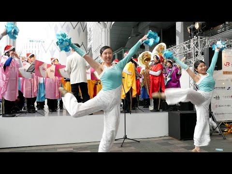 【4K】精華女子高等学校吹奏楽部 クリスマスマーケットin光の街・博多