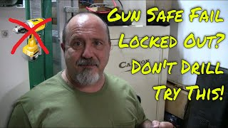 Cannon Digital Gun Safe Fail Fix! Locked Out! Don't Drill - TRY THIS FIRST!