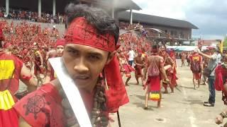 Pekan Gawai Dayak Ke-34 (Atraksi Pasukan Merah Bangkule Rajakng)