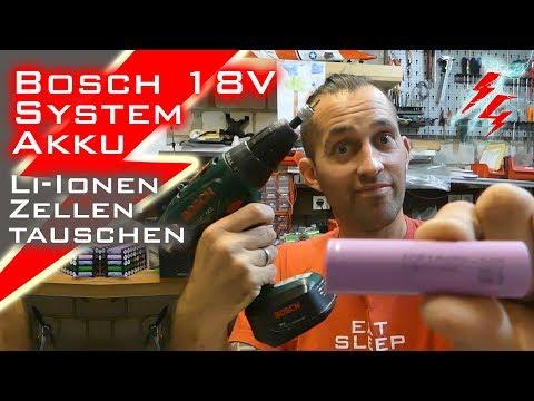 Bosch 18V System - Li-Ionen-Zellen tauschen mit alten Laptopzellen