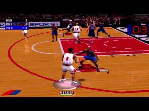 NBA Live 2001 Gameplay Chicago Bulls vs Denver Nuggets