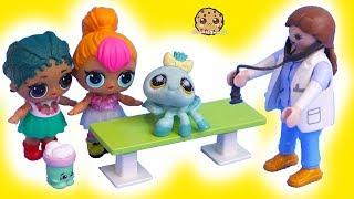 Vet Pets with Shopkins & LOL Surprise Dolls Pet Animals - Toy Video