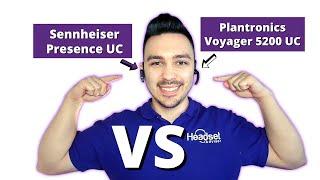 Plantronics Voyager 5200 UC Vs. Sennheiser Presence UC SHOWDOWN + Mic Test