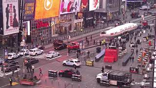 "EarthCam Captures Live Footage of 1958 TWA ""Connie"" Lockheed Constellation in Times Square"