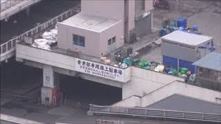 閉鎖した築地市場&オープンしたての豊洲市場をほぼ空撮してみたClosedTsukijifishmarketfromthesky