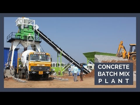 Stationary Concrete Batch Mix Plant