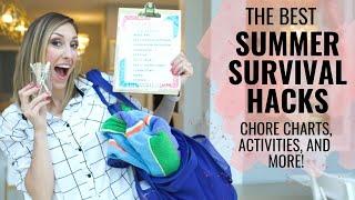 Summer Survival Hacks! Chore Charts, Snacks, Screen Time + More!