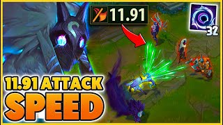 I get THE HIGHEST ATTACK SPEED IN THE GAME (PENTA LVL 1) - BunnyFuFuu | League of Legends