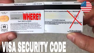 ✅  How To Find Security Code Visa 🔴