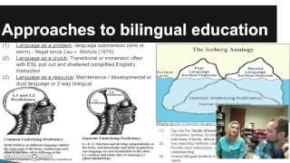 Approaches to Bilingual Education