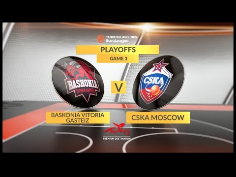 EuroLeague Highlights Playoffs 3: Baskonia Vitoria Gasteiz 88-90 CSKA Moscow