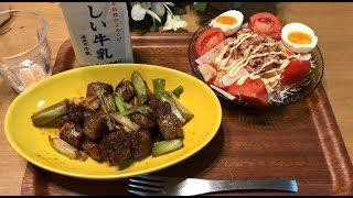ひき肉でサイコロステーキ【1ヶ月食費2万円生活18日目】