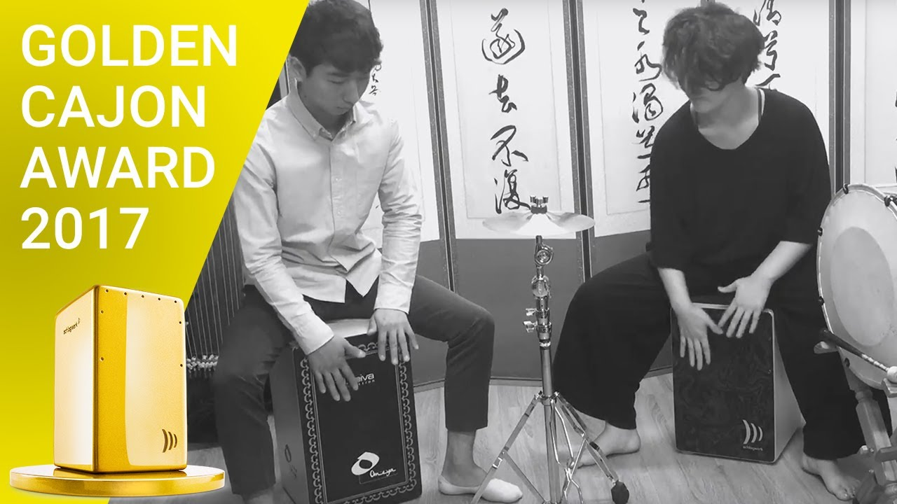 Mixture of korean traditional rhythm  in cajon