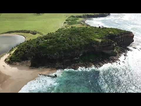 Drone overview of Werri Beach
