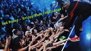 Bad Bunny - Krippy Kush CHALLENGE 😂 Chile, en el Caupolican ( concierto ) [LiVe]