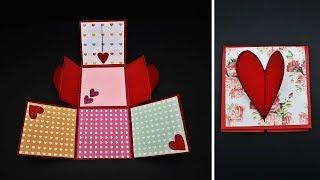 DIY Heart Lock Accordion Card Tutorial For Valentines Day / Anniversary / Birthday | Handmade Cards