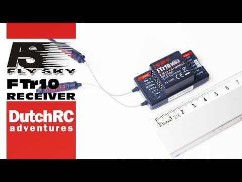 How to & test flight with FlySky FTr10 airplane receiver :)
