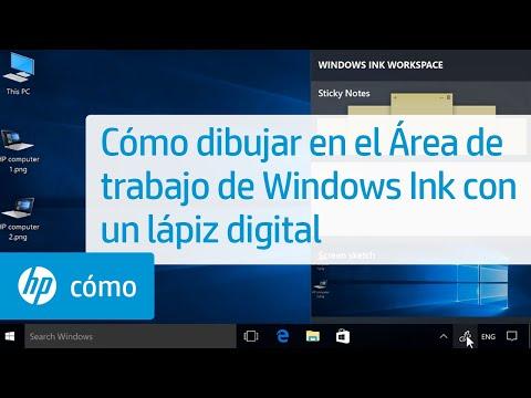 Cómo dibujar en el Área de trabajo de Windows Ink con un lápiz digital