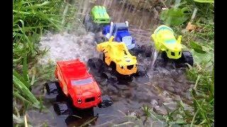 Вспыш и чудо машинки вытаскивают Крушилу из грязи, видео для детей