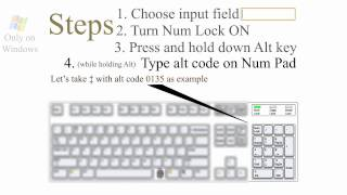 ¿How? Alt codes ♥ keyboard symbols