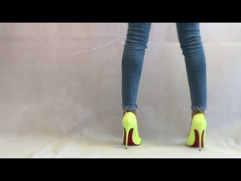 Jeans and Neon Heels | Outfit of the Day