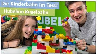 Hubelino Kugelbahn - aufgebaut und ausprobiert!