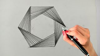 How To Draw 3d Art On Paper ! Geometric Hexagon Drawing ! Optical Illusion ! Geometric Design