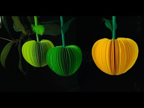 Paper Crafts For School | Paper Craft For Kids | DIY 3D Fruits With Paper