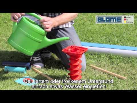 BLOME Eindreh Bodenschraube GardenFix Bodenhülse Bodenanker