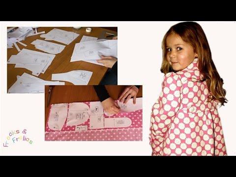Klassischer Mädchen Mantel Schnittmuster-  Teil 1 Zuschneiden und Vorbereitung