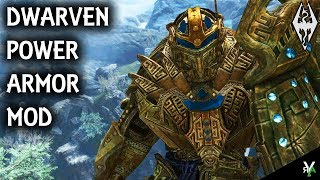 DWARVEN POWER ARMOR: Unique Armor Mod- Xbox Modded Skyrim Mod Showcase