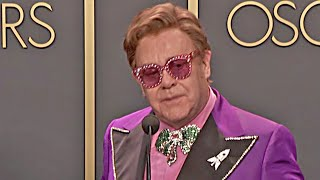 Oscars 2020 Elton John & Bernie Taupin - Winner Speech - Rocketman