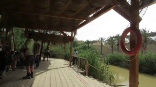 preview picture of video 'Qasr el Yahud - The Baptism site of John the Baptist. The Israeli side where Jesus was baptized'