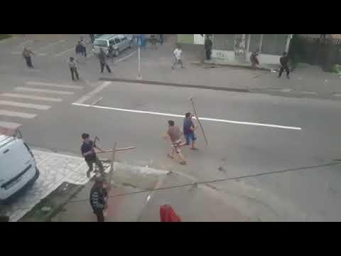 Массовая драка между цыганами в Румынии
